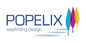 Logo POPELIX GmbH – wayfinding design