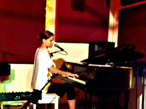 Paula Anttila performing at Rockwood NYC